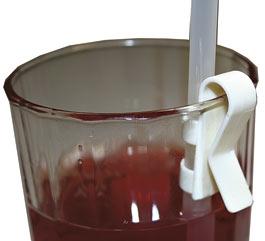 Sugrörshållare som trycks fast på glaskanten