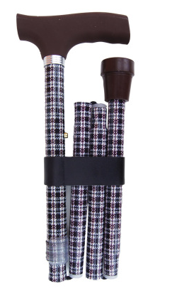 Vikbar käpp med rutor