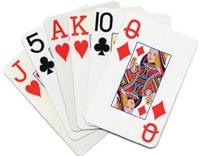 Spelkort med stora siffror