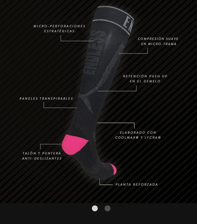 Dam SOX Kompression padel/tennis Strumpor Black