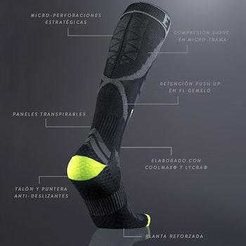 Padel/tennis kompression strumpor black herr