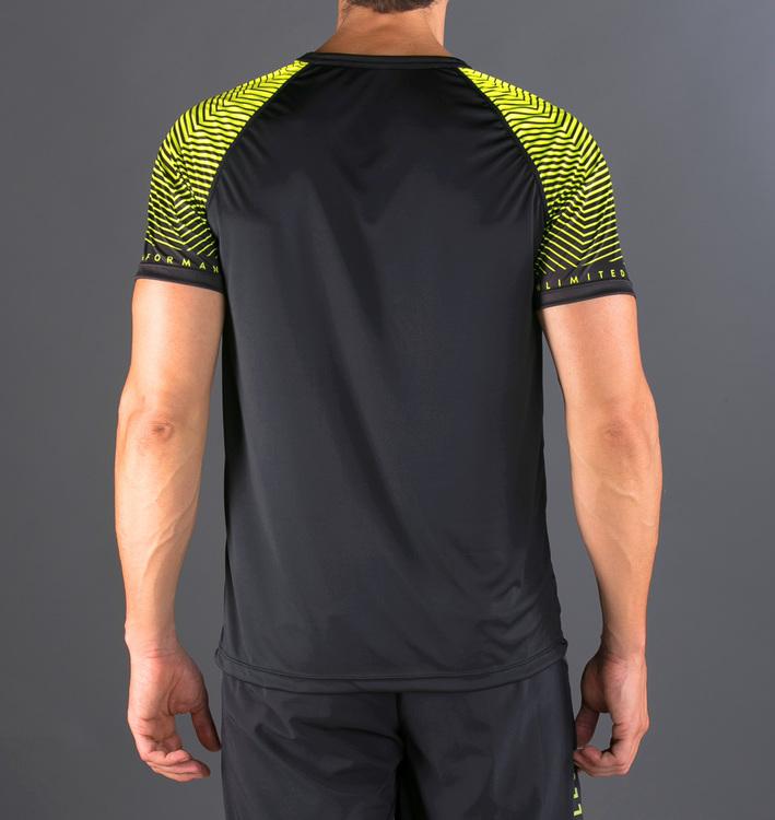 Camiseta Feisty Sleeves Black Yellow