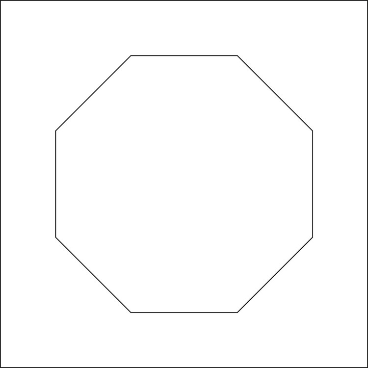 3228-Stencil 6 kantig schablon  14x14 cm