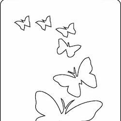 3253-Stencil  Tag fjärilar
