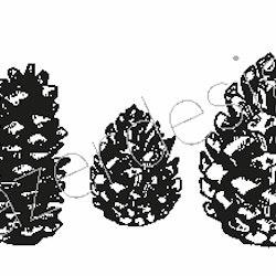 1270-Stämpel stora kottar