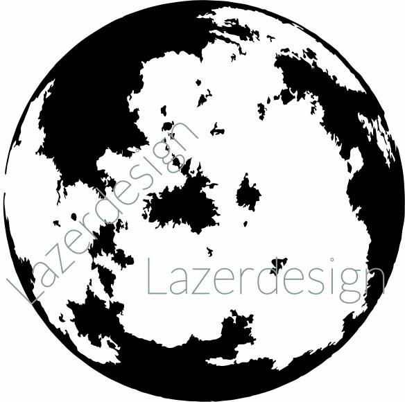 14202-Stämpel Stor Måne
