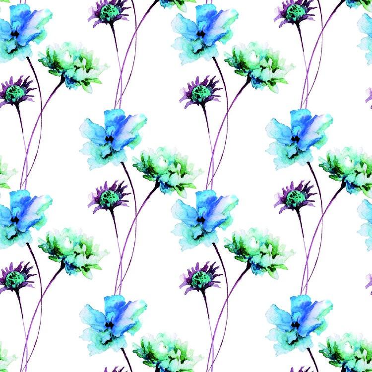 2021-276 Blommor i akvarell 14,5 X 14,5 CM