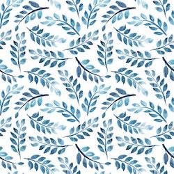 BLÅTT-3 Blommor i akvarell
