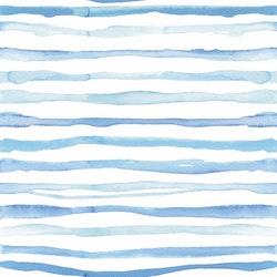 BLÅTT-8 Blå rand i akvarell