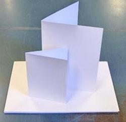 520018Kortstomme Vit blank 14 x 28 cm   20 st