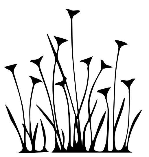 507-Gummistämpel Blommande  Gräs