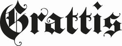 417 - Gummistämpel Grattis gotisk