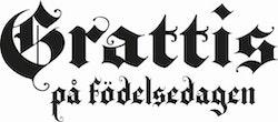 419 - Gummistämpel Grattis på födelsedagen gotisk
