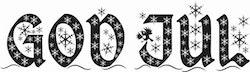 2427- Stämpel God Jul stjärnor