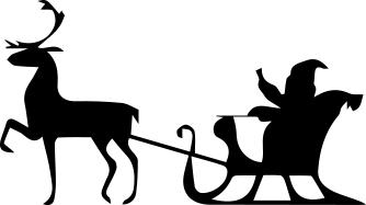 1337 - Gummistämpel Tomte i släde