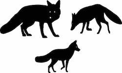 539 - Stämpel 3 st mini rävar