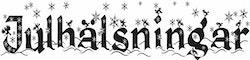 2428 -Gummistämpel Julhälsningar  stjärnor