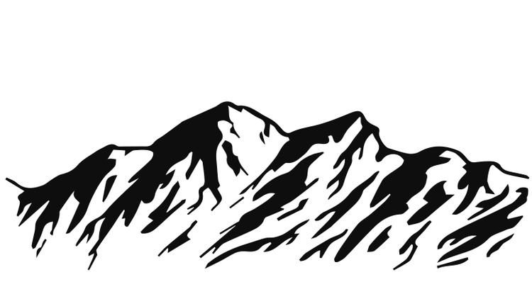1410-Gummistämpel Berg