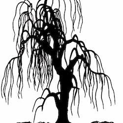 1442-Gummistämpel stort Träd
