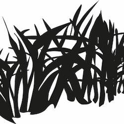 1434-Gummistämpel Gräs