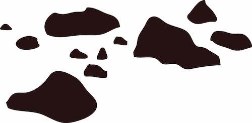 1455-Gummistämpel stenar olika storlek