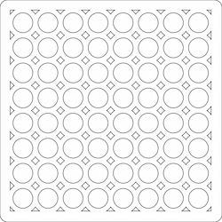 3211 - Lazerdesign Stencil Ringar