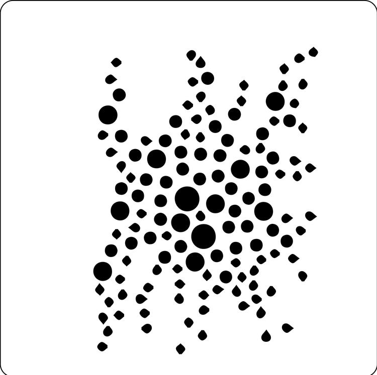 3204 - Stencil  småcirklar