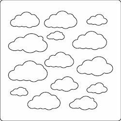 3208 - Stencil Lazerdesign moln