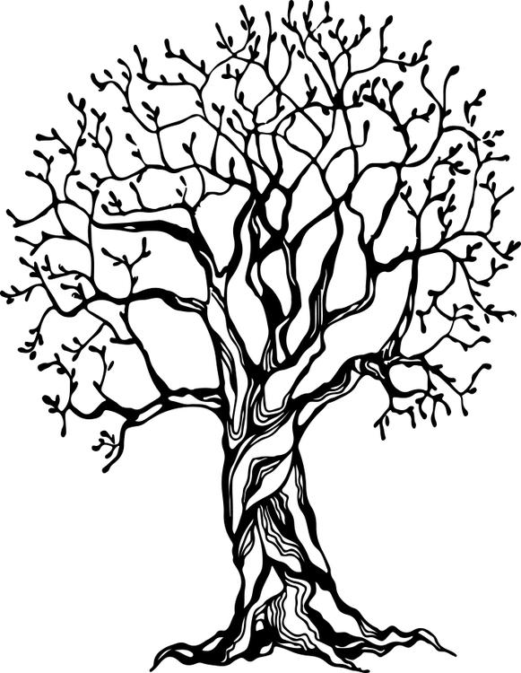 1461-Gummistämpel Stort Träd