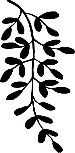 14100-Gummistämpel   Växtmotiv blad