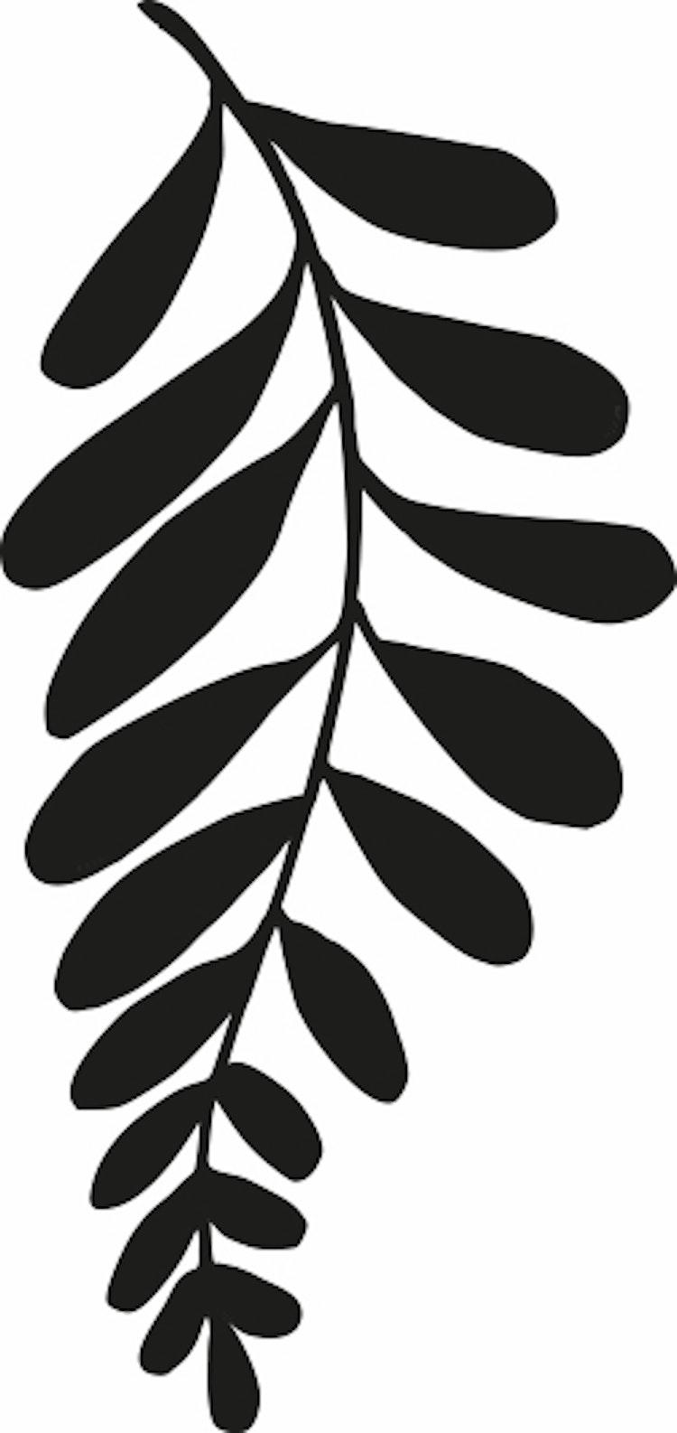 14101-Gummistämpel   Växtmotiv blad