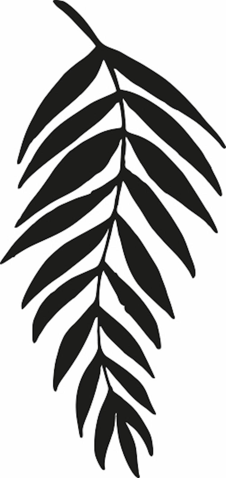 14103-Gummistämpel   Växtmotiv blad