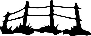 14108 - Gummistämpel enkel staket