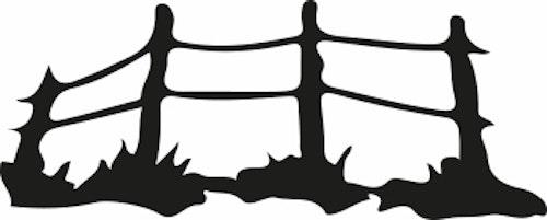 14108-Gummistämpel enkel staket