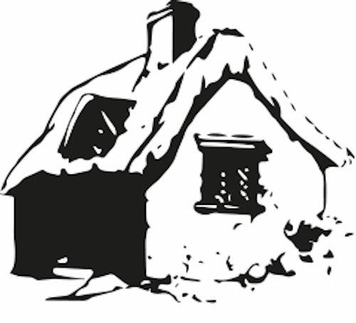1535  Gummistämpel Minis hus
