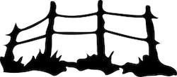 1522 -  Gummistämpel Minis staket
