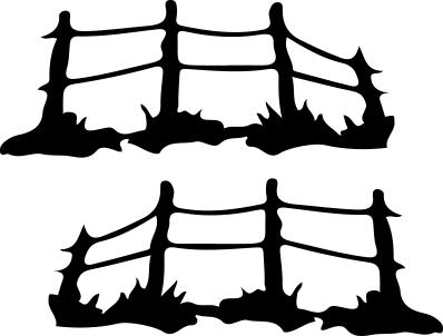 14107 - Gummistämpel dubbel staket