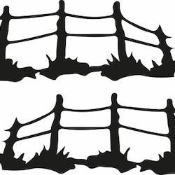 14107-Gummistämpel dubbel staket