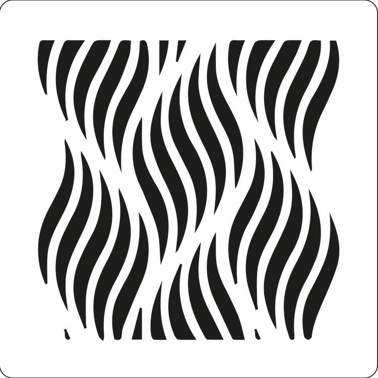 3205 - Stencil Lazerdesign vågor
