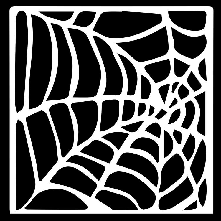 3209 - Stencil Lazerdesign spindelnät