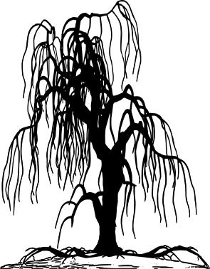 1525 - Gummistämpel  Träd