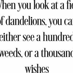 901 - gummistämpel Engelsk text Dandellion