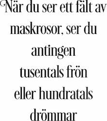 848 - Gummistämpel När du ser ett fält av maskrosor...