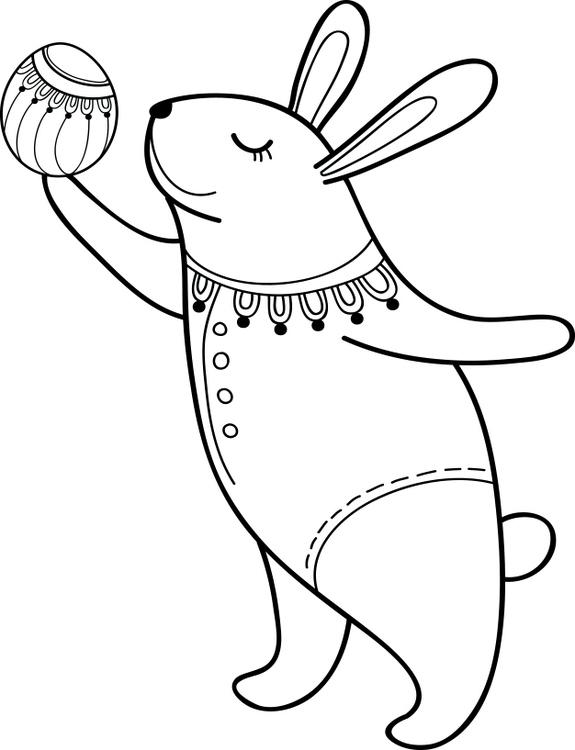 1603 - Gummistämpel Herr Hare