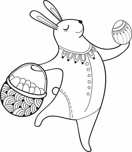 1605 - Gummistämpel Fru Hare