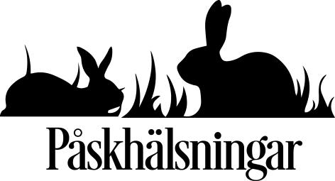 1617 - Gummistämpel  Kaniner påskhälsningar
