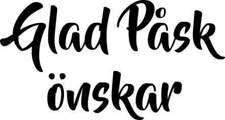 1651 - Gummistämpel  Glad Påsk önskar
