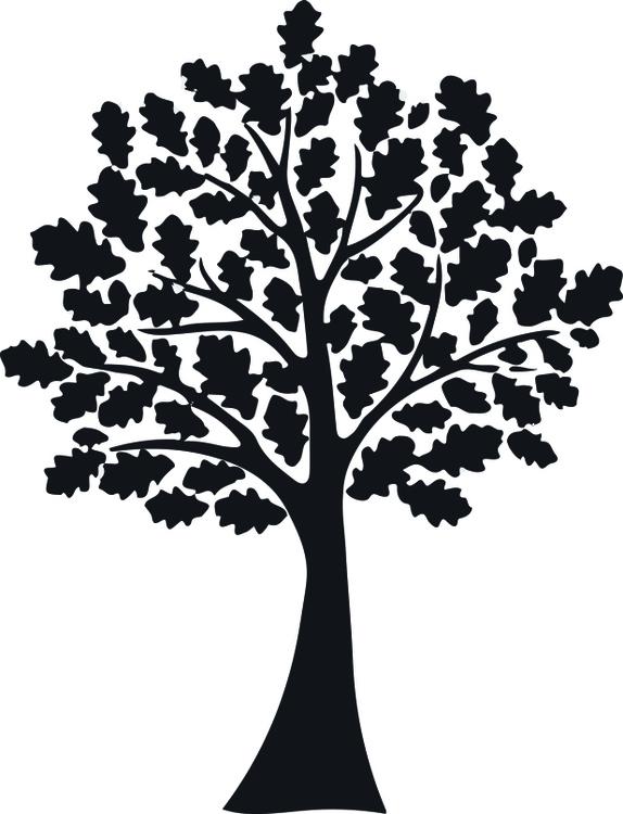 14117 - Gummistämpel Stor Ek med blad