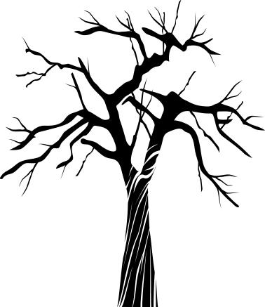 14115 - Gummistämpel Naket Träd