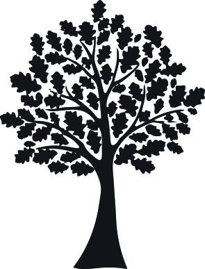 1544 - Gummistämpel Minis Liten Ek med blad